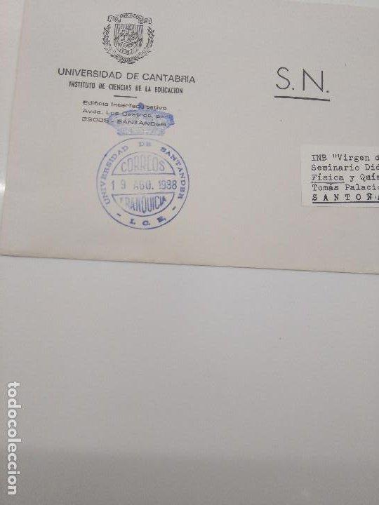 Sellos: matasellos Franquicia universidad de santander I.C.E. año 1988. Instituto ciencias educacion - Foto 2 - 197973982