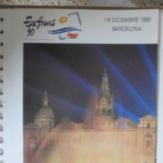 Sellos: EXFIME 1990 BARCELONA EDIFIL 3091 EN HOJA 15 ANILLAS. Lote 198081405