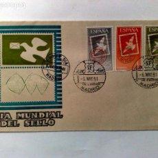 Sellos: SOBRE PRIMER DIA DE EMISIÓN,DIA MUNDIAL DEL SELLO,MADRID 1961.. Lote 198284783