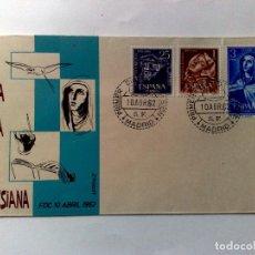 Sellos: SOBRE PRIMER DIA DE EMISIÓN,IV CENTENARIO REFORMA TERESIANA,MADRID 1962.. Lote 198288621