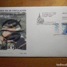 Francobolli: SOBRE PRIMER DÍA S.F.C 23/97 - EXP. MUNDIAL PESCA - 17-SEPTIEMBRE-1997 EDIFIL 3504. Lote 199082815