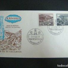 Sellos: SOBRE 1º-DIA DE CIRCULACION--ANDORRA VIRGEN DE MERITXELL 29-FEB-64. Lote 199336758