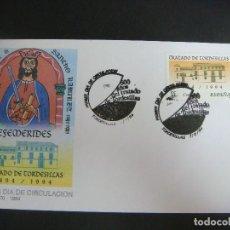 Sellos: SOBRE 1º-DIA DE CIRCULACION--TRATADO DE TORDESILLAS 1494-1994 7-6-94. Lote 199337173