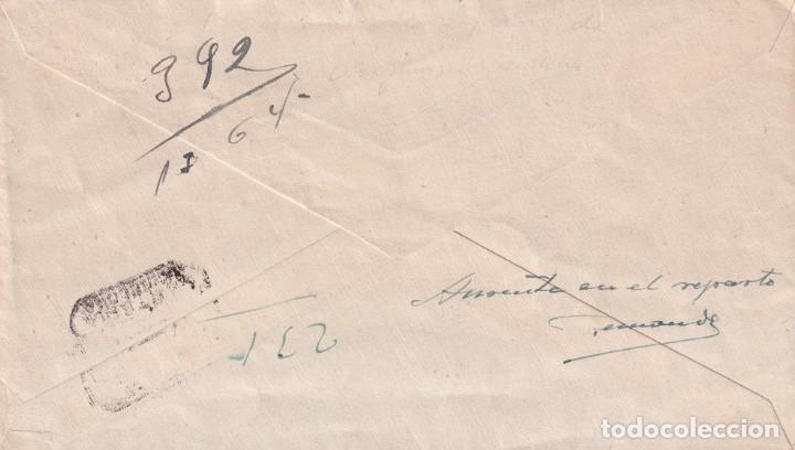 Sellos: DON QUIJOTE CERVANTES RUTA DEL QUIJOTE, ARGAMASILLA DE ALBA (CIUDAD REAL) 1947 MATASELLOS EN CARTA. - Foto 2 - 199371610