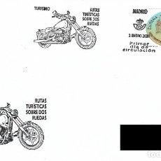 Sellos: ESPAÑA. SOBRE PRIMER DIA. TURISMO 2020. MOTOCICLETA. Lote 199669893