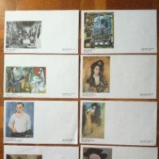 Sellos: 8 SOBRES PRIMER DIA D'EMISSIÓ - MUSEU PICASSO - BARCELONA. Lote 199954316