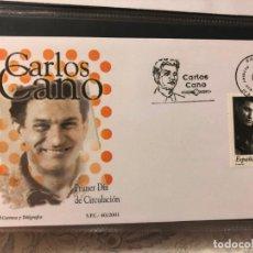 Sellos: SPD. SOBRE PRIMER DIA CIRCULACION, CARLOS CANO. AÑO 2001. Lote 200079080