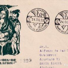 Sellos: RELIGION NAVIDAD 1955 PINTURA EL GRECO (EDIFIL 1184) EN SPD DEL SFC CIRCULADO A GUINEA. LLEGADA RARO. Lote 200099853