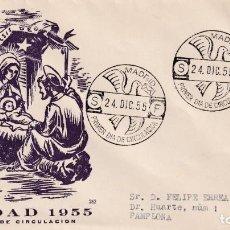 Sellos: RELIGION NAVIDAD 1955 PINTURA EL GRECO (EDIFIL 1184) EN SOBRE PRIMER DIA CIRCULADO DE EG. RARO ASI.. Lote 200100372