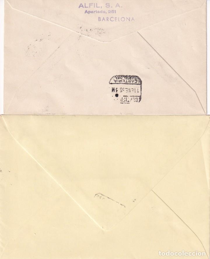 Sellos: FORTUNY Y TORRES QUEVEDO 1955-1956 (EDIFIL 1164/65) EN DOS SOBRES PRIMER DIA CIRCULADOS. RAROS. MPM - Foto 2 - 136579814