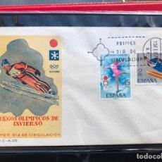 Sellos: SPD SOBRE PRIMER DIA DE CIRCULACION SFC 1972 JUEGOS OLIMPICOS DE INVIERNO SAPPORO, JAPON. Lote 200403057