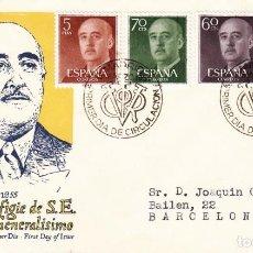 Sellos: SOBRE: 1955 MADRID. EFIGIE DE S.E. EL GENERALISIMO - PRIMER DIA EMISION. Lote 201499641