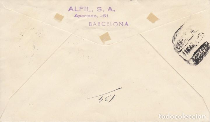 Sellos: SOBRE: 1955 MADRID. EFIGIE DE S.E. EL GENERALISIMO - PRIMER DIA EMISION - Foto 2 - 201499641