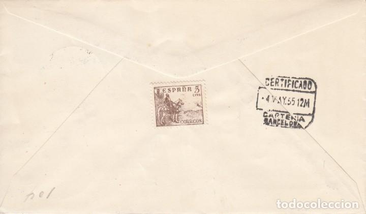 Sellos: SOBRE: 1955 MADRID. EFIGIE JEFE DEL ESTADO - PRIMER DIA DE CIRCULACION - Foto 2 - 201543841