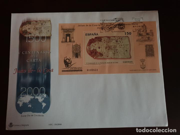ESPAÑA SOBRE PRIMER DIA EDIFIL SH 3722 CENTENARIO CARTA JUAN COSA (Sellos - Historia Postal - Sello Español - Sobres Primer Día y Matasellos Especiales)