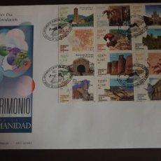 Sellos: ESPAÑA SOBRE PRIMER DIA EDIFIL SH 3843/854 AÑO 2001 PATRIMONIO HUMANIDAD. Lote 202042268