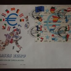 Sellos: ESPAÑA SOBRE PRIMER DIA EDIFIL SH 3632/643 AÑO 1999 PAISES DEL EURO. Lote 202042487