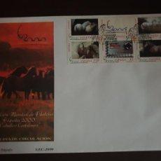 Sellos: ESPAÑA SOBRE PRIMER DIA EDIFIL SH 3684 A/3679A AÑO 1999 EXPOSICION MUNDIAL FILATELIA ESPAÑA . Lote 202042818