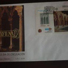 Sellos: ESPAÑA SOBRE PRIMER DIA EDIFIL SH 3625 AÑO 1999 EXPOSICION FILATELICA NACIONAL EXFILNA 99. Lote 202042991