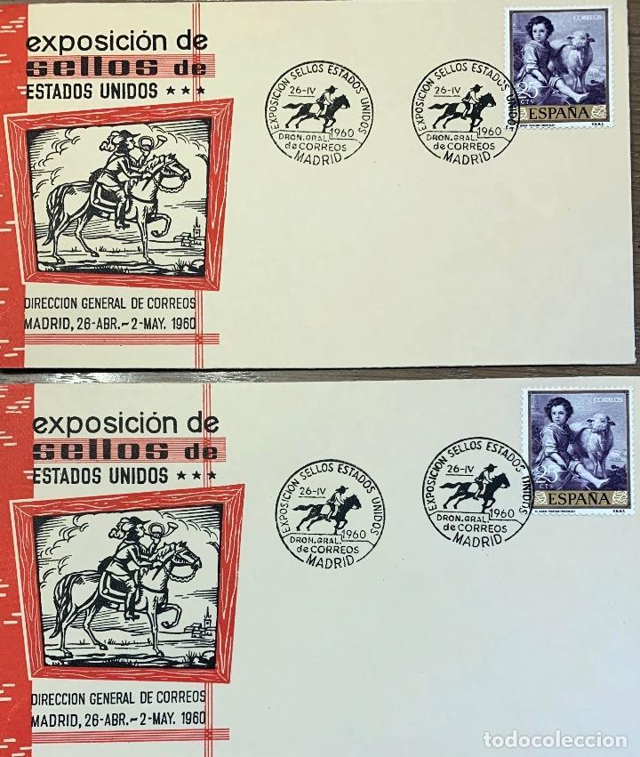 LOTE SOBRES 9 PRIMER DIA. 3 EUROPA 1960, 1 EUROPA 1961, 2 DIA SELLO 1960, 2 EXPO 1960, 1 IBERO 1955 (Sellos - Historia Postal - Sello Español - Sobres Primer Día y Matasellos Especiales)