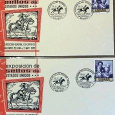 Sellos: LOTE SOBRES 9 PRIMER DIA. 3 EUROPA 1960, 1 EUROPA 1961, 2 DIA SELLO 1960, 2 EXPO 1960, 1 IBERO 1955. Lote 202372970