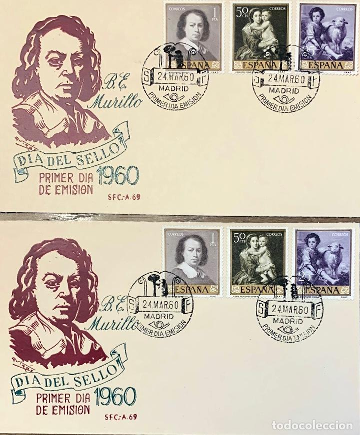 Sellos: LOTE SOBRES 9 PRIMER DIA. 3 EUROPA 1960, 1 EUROPA 1961, 2 DIA SELLO 1960, 2 EXPO 1960, 1 IBERO 1955 - Foto 3 - 202372970