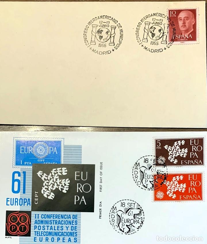 Sellos: LOTE SOBRES 9 PRIMER DIA. 3 EUROPA 1960, 1 EUROPA 1961, 2 DIA SELLO 1960, 2 EXPO 1960, 1 IBERO 1955 - Foto 4 - 202372970