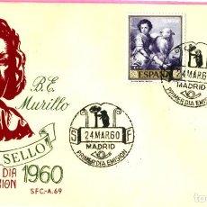 Sellos: SOBRE DE PRIMER DIA DE CIRCULACION MURILLO AÑO 1960. Lote 202472965