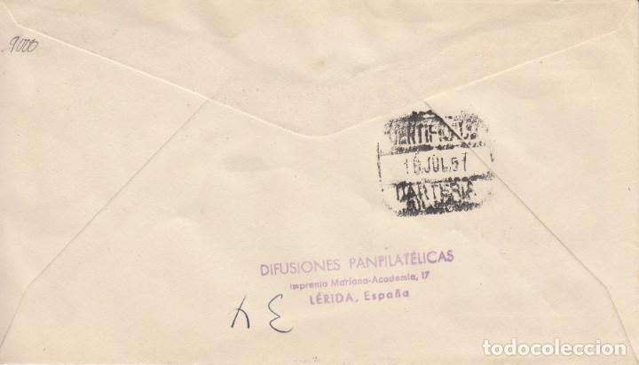 Sellos: SOBRE: 1951 VALLES DE ANDORRA. PLAZA DE ORDINO - Foto 2 - 202554457