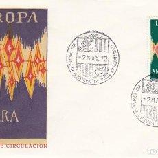 Sellos: SOBRE: 1972 ANDORRA LA VIEJA. EUROPA - CEPT. Lote 202590498