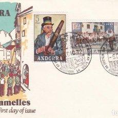Sellos: SOBRE: 1972 ANDORRA LA VIEJA. LES CARAMELLES. Lote 202592297