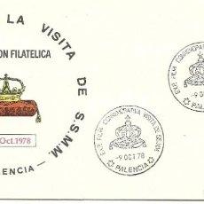 Sellos: SOBRE CON MATASELLO DE LA VISITA DE LOS REYES A PALENCIA EN 1978. Lote 202700415