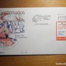Francobolli: SOBRE PRIMER DÍA S.F.C.-2003 - CENTENARIO CLUB ATLÉTICO DE MADRID - 25-ABRIL-03 - EDIFIL 3983. Lote 202747693
