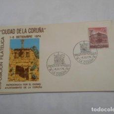 Sellos: EXPOSICION FILATELICA CIUDAD DE LA CORUÑA-1974-SOBRE ALFIL. Lote 203990128
