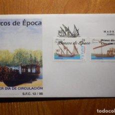 Francobolli: SOBRE PRIMER DÍA S.F.C.- 12/98 - BARCOS DE ÉPOCA - 30-ABRIL-98 -EDIFIL 3540, 3541. Lote 204178692