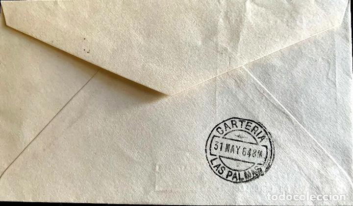Sellos: 1964. SOBRE PRIMER DIA CORONACION VIRGEN ESPERANZA. CIRCULADO MADRID-LAS PALMAS - Foto 2 - 204606166