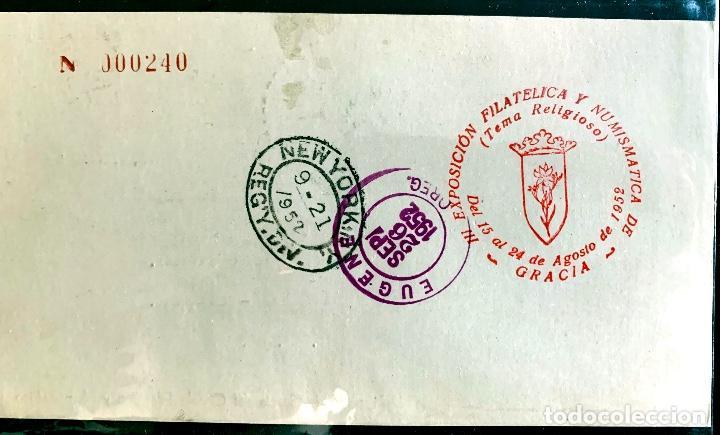 Sellos: 1952. PRIMER DIA III EXPO. FILATELICA BCN. CIRCULADA EUGENE (OR, USA). - Foto 2 - 204617683