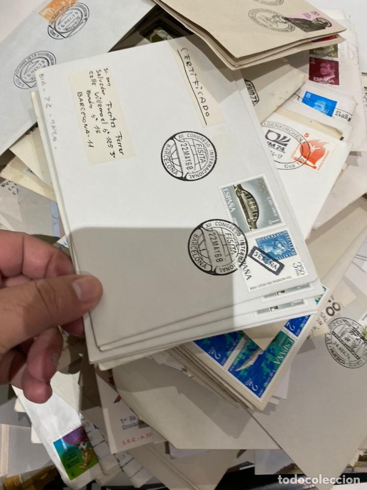 Sellos: Gran lote de sobres del primer dia antiguos y sellos - caja plástico grande llena - ver las imágenes - Foto 15 - 205269146