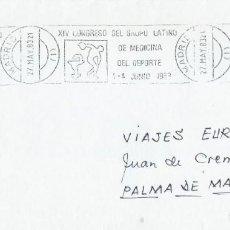 Sellos: 1983. MADRID. RODILLO/SLOGAN. XIV CONGRESO GRUPO LATINO MEDICINA DEL DEPORTE. SPORTS. MEDICINE.. Lote 205285187