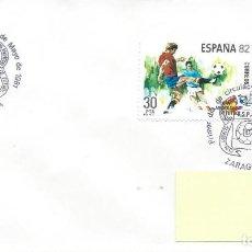 Sellos: 1981. ZARAGOZA. MATASELLOS P.D. MUNDIAL FÚTBOL ESPAÑA'82. EDIFIL 2613/4. FOOTBALL. DEPORTES/SPORTS.. Lote 205291418