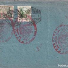 Sellos: MARCA AEREA SAN FRANCISCO SOLANO IV CENTENARIO PRIMER VUELO ESPAÑA-VENEZUELA 1949 EN SOBRE RARO. MPM. Lote 205316911