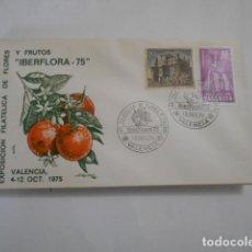 Sellos: EXPOSICION FILATELICA DE FLORES IBERFLORA VALENCIA 75. Lote 205586081