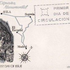 Sellos: IGLESIA DE SAN VICENTE EN AVILA SERIE TURISTICA 1968 (EDIFIL 1877) EN SOBRE PRIMER DIA DE ALFIL. MPM. Lote 205785726
