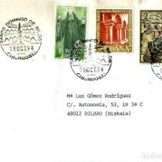 Sellos: SOBRE CON MATASELLO DE SANTO DOMINGO DE SILO ABADIA BENEDICTINA. Lote 206167966