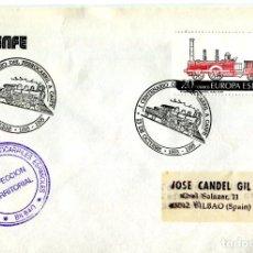 Sellos: TRENES I CENTENARIO DEL FERROCARRIL A CASPE (ZARAGOZA) 1993. MATASELLO RARO EN SOBRE DE RENFE. Lote 206168272