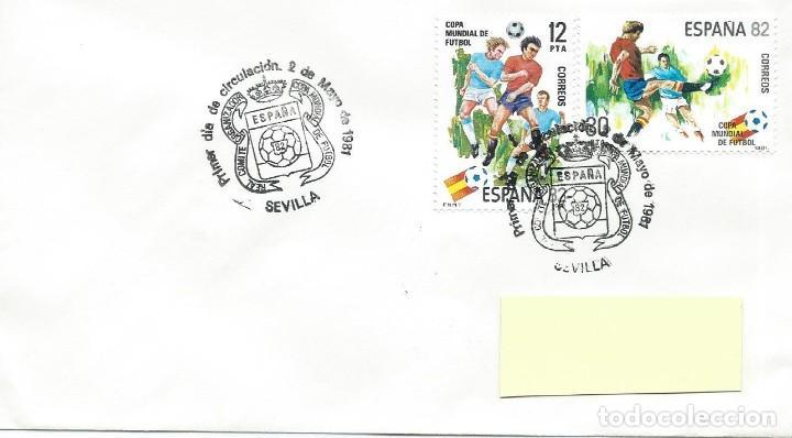 1981. SEVILLA. MATASELLOS P.D. EDIFIL 2613/4. MUNDIAL DE FÚTBOL ESPAÑA'82. FOOTBALL. DEPORTES/SPORTS (Sellos - Historia Postal - Sello Español - Sobres Primer Día y Matasellos Especiales)