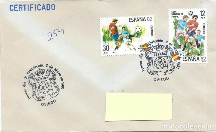 1981. OVIEDO. MATASELLOS P.D. EDIFIL 2613/4. MUNDIAL DE FÚTBOL ESPAÑA'82. FOOTBALL. DEPORTES/SPORTS (Sellos - Historia Postal - Sello Español - Sobres Primer Día y Matasellos Especiales)