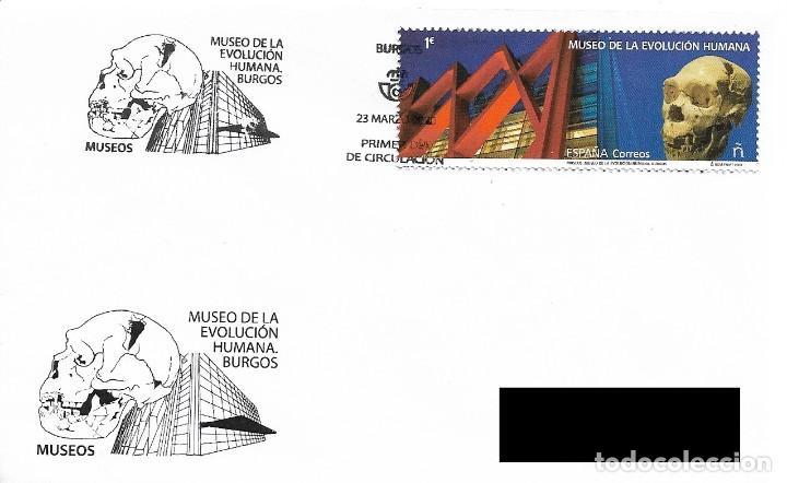 ESPAÑA. SOBRE PRIMER DIA. MUSEO DE LA EVOLUCION HUMANA. BURGOS 2020 (Sellos - Historia Postal - Sello Español - Sobres Primer Día y Matasellos Especiales)