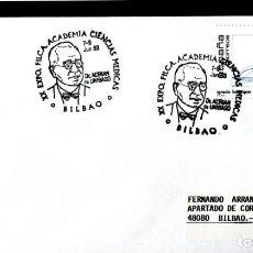 Sellos: MEDICINA DR ADRIAN UNIBASO ACADEMIA DE CIENCIAS MEDICAS BILBAO VIZCAYA 1993 MATASELLOS EN SOBRE. Lote 206477981