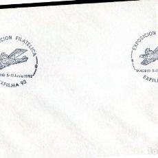 Sellos: SOBRE CON MATASELLOS DE MADRID 1992. EXPOSICION FILATELICA EXFILMA 92. Lote 206488356
